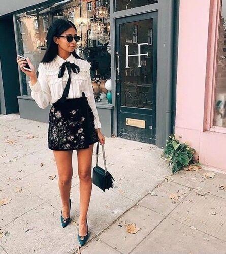 Velour Zara Shorts Jupe Floral S Velvet Pantalons Samt Hot Bermudes Stickerei 665raqxw