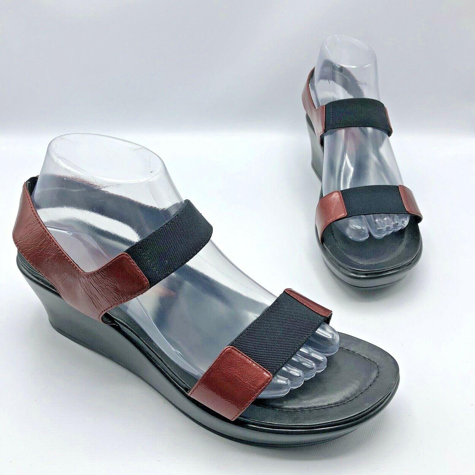Dansko 1203380200 mujer rojo Patent Leather Elastic Sandal zapatos SZ 9.5-10 EUR 40