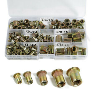 5//16-18 Stainless Steel Rivet Nuts Threaded Insert Nutsert Rivnuts 5 Sizes 8-32 1//4-20 3//8-16 10-24