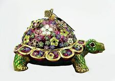 JAY STRONGWATER EXTREMELY RARE MILLE FIORI TURTLE CHRISTMAS ORNAMENT NEW BOX