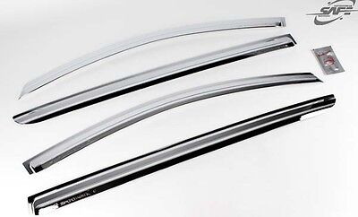 AUTOCARKD CHROME PLATED WIND DEFLECTORS RAIN SHADES 4P FOR 2015 KIA SPORTAGE