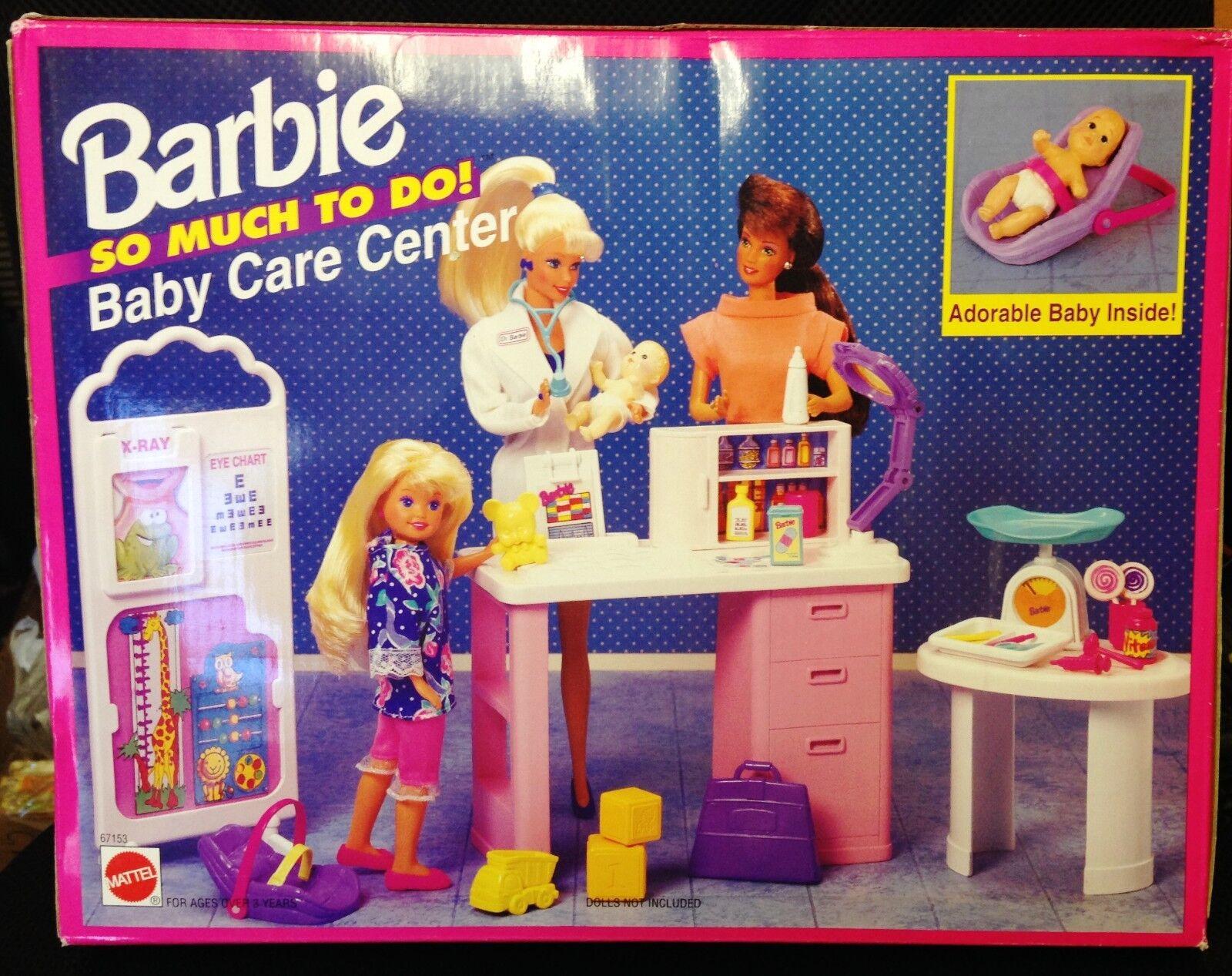 Barbie so Much To Do Baby Care Center Spielset  67153 1995BrandneuMattel