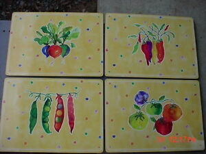 4 Deluxe Placemats Cork Backed Gifts From The Garden ...