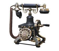 Vintage Telephone Rotary Old Fashion Style Stylish Retro Handset Antique Black