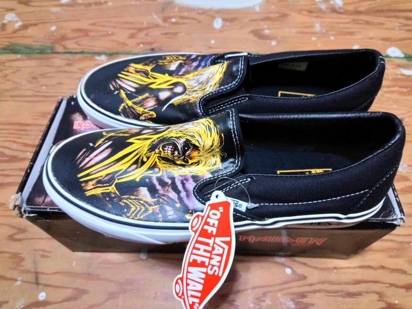 Vans X Iron Maiden Killers Yellow Black Size 9 supreme wtaps syndicate mastodon