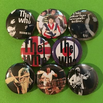 """THE WHO 1"""" buttons badges PETE TOWNSHEND ROCK AND ROLL"""