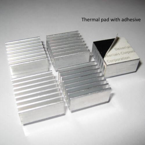 Disipador térmico de aluminio para 1W LED refrigeración de la GPU Ram chipset VGA 20mm X 20mm X 10mm 3M