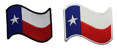 Texas State Waving Flag Embroidered Iron On Patch Lone Star TX  051-B