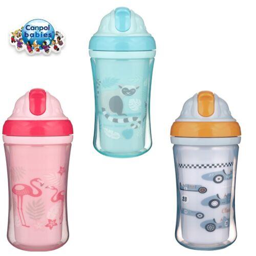 Canpol babies Sport Cup avec Silicon Flip Top paille 270 ml 12m+