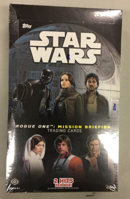 Topps STAR WARS ROGUE ONE MISSION BRIEFING trading card box NEW SEALED 24 packs