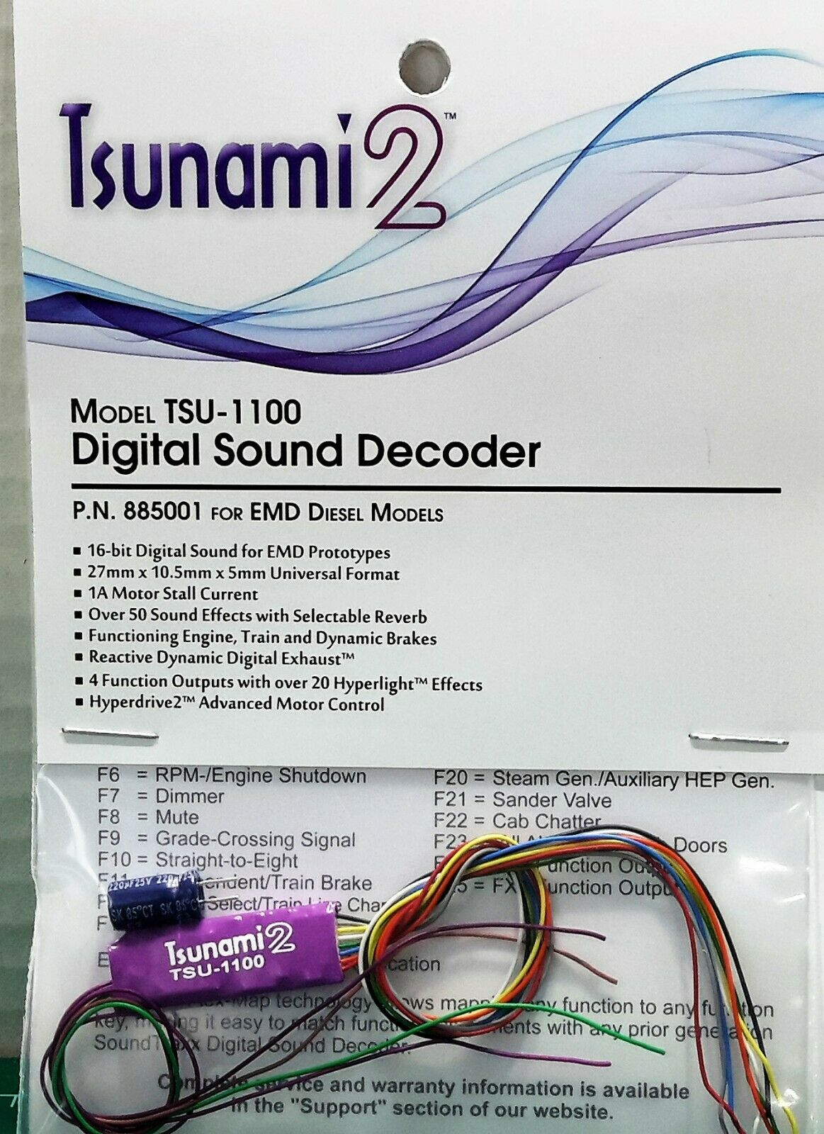 Soundtraxx Tsunami2 TSU-1100 1amp EMD Diesel Engines Item