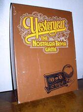 Yesteryear: The Nostalgia Trivia Game by Skor-mor (1973)