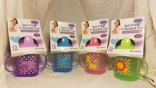 NEW Baby Care Sippy Cup Two Handle Drinking Kids 12 Months PVC BPA Free
