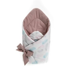 Newborn Infant Baby Knit Crochet Swaddle Wrap Swaddling Stroller Sleeping Bag UK