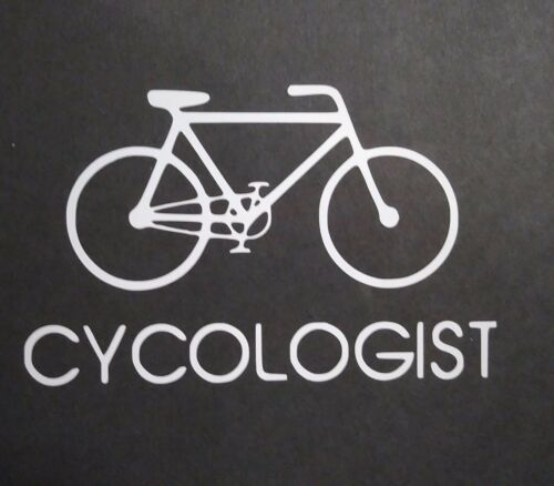 Cycologist Vinyl Decal for laptop windows wall car boat