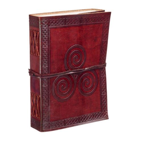 Fair Trade Handgemacht Keltisch Triskelion Leder Zeitschrift Notizbuch Tagebuch