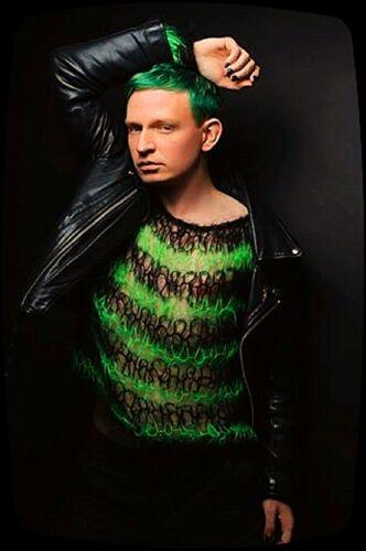 seditionaries Pistols Clash zombie hand knit PUNK MOHAIR JUMPER black green