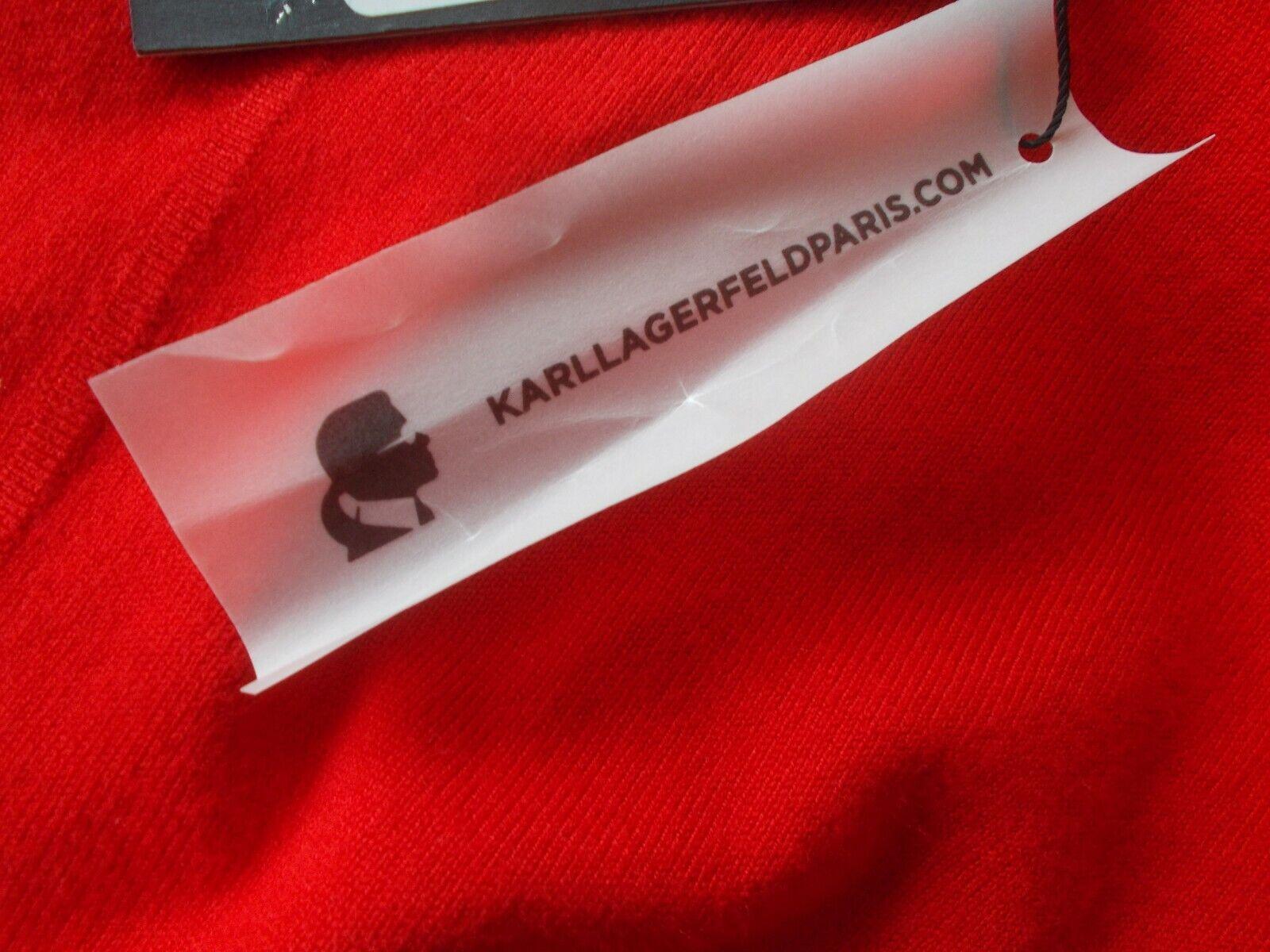 KARL LAGERFELD PARIS PARIS PARIS NWT CRI SWEATER RED S COLD SHOULDER BELL SLEEVE W BOW  79 0da200