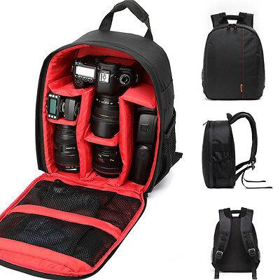 Durable Waterproof DSLR Backpack Case Bag For Canon Nikon Sony Camera Lens EM