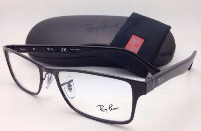 ad39abe74f9 New RAY-BAN Rx-able Eyeglasses RB 6238 2509 55-17 Black Rectangular
