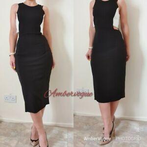 Zara-New-Midi-Stretch-Combined-Dress-SIZE-S-UK-8-10