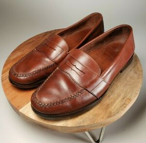 Cole Haan Country Men's Brown Leather Penny Loafer Dress ...