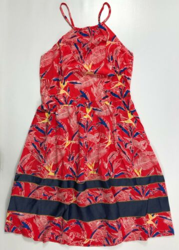 Red size LARGE TOMMY HILFIGER Women/'s Printed Strappy Summer Dress