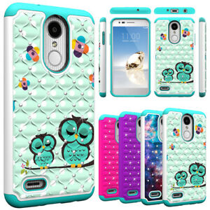 Details about For LG Aristo 2, K8 2018,Zone 4 Case Bling Diamond Hybrid  Armor Shockproof Cover