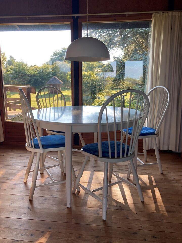 Spisebord m/stole, Træ, b: 115 l: 115