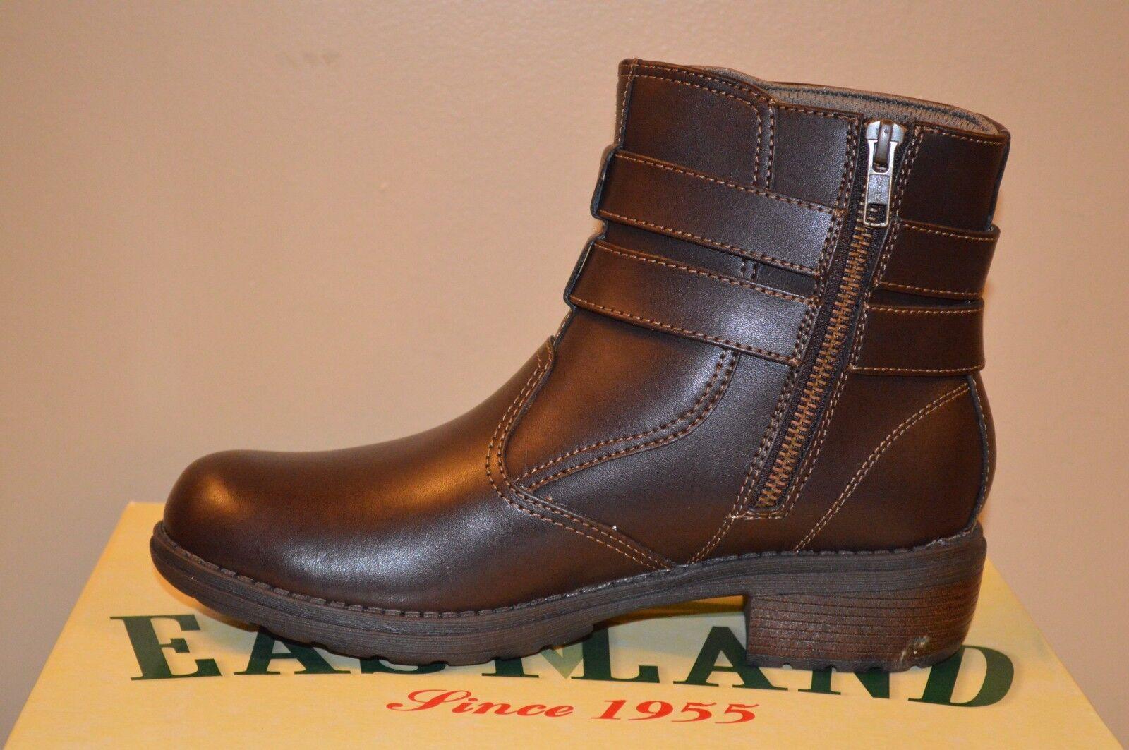 Eastland Ankle Braun Leder Damens Zipper Ankle Eastland Stiefel Größe 8 503164