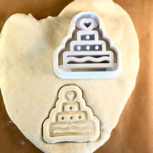 Image Is Loading Birthday Cake Wedding Cookie Cutter Cute Biscuit
