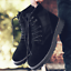 thumbnail 6 - Mens Fashion Riding Boots High Top Lace Up Round Toes Solid Autumn Ankle Booties