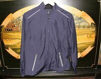 Womens Medium Navy Blue Windtec Golf Jacket Cutter & Buck Amway Global
