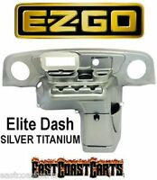Ezgo Txt Golf Cart Elite Radio Dash Cover Brushed Silver (free Shipping)