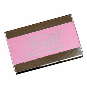Personalized pink business card case holder custom engraved office image is loading personalized pink business card case holder custom engraved colourmoves