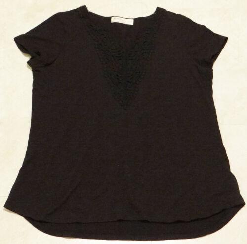 Women/'s Plus /& Regular Size Lace Applique Top