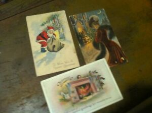 ANTIQUE-CGRISTMAS-POST-CARDS-LOT-20-227