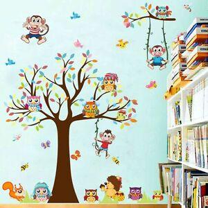 Details zu Wandtattoo Wandbild Sticker Kinderzimmer Baum Baby Bunt Lustig  Spiel Comic 102-1