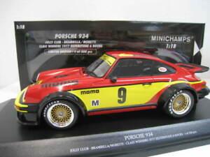 Porsche-934-9-Jolly-Club-1977-Silverstone-Limitiert-Minichamps-1-18-OVP-NEU