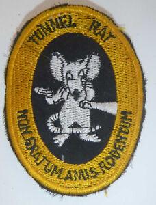 Tunnel-Rat-RARE-Ops-Patch-ne-valent-pas-un-rat-039-s-Valet-Cu-Chi-Guerre-du-Vietnam-Y