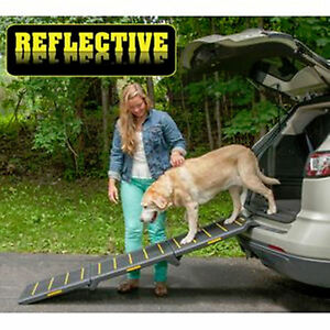 New-Pet-Gear-Tri-Fold-Pet-Ramp-Reflective-Extra-Wide-200-lbs-PG9300RF