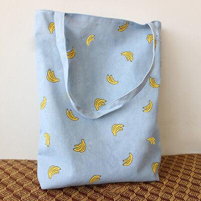 Hot Lady Carrying Shoulder Bag Banana Satchel Shopper Tote Eco Reusable Handbag