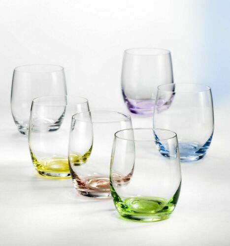 Bohemia Wassergläser Rainbow Saftglas 300 ml mehrfarbig 6er Set