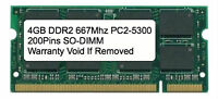 4gb Ddr2 667 Mhz Pc2-5300 Sodimm Memory For Ibm Lenovo Hp Dell Laptop Apple