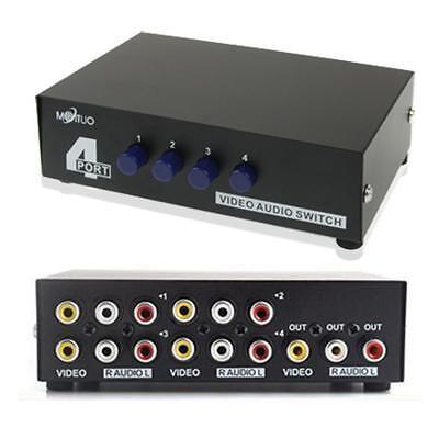 4 Porte Ingresso 1 Uscita Audio Rca Av Video Switch Box Alta Qualità E Basso Sovraccarico