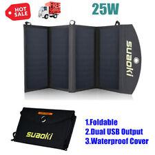7W 5V USB Port Foldable Solar Panel Charger Outdoor Portable Battery E7U1