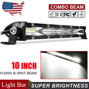 10inch-Slim-LED-Light-Bar-Work-Lamp-Flood-Spot-Combo-Offroad-SUV-Truck-ATV-US