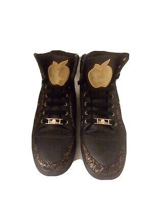 NIB APPLE BOTTOM  Kishia Hi Top Sneakers DESIGNER SHOES