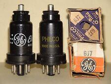 2 Philco GE 6J7 Vacuum Tubes Results= 1375 1410