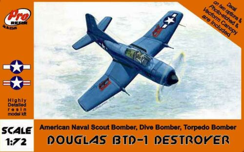 Pro Resin R72010 BTD-1 Douglas Destroyer US NAVY Bomber 1//72 Olimp